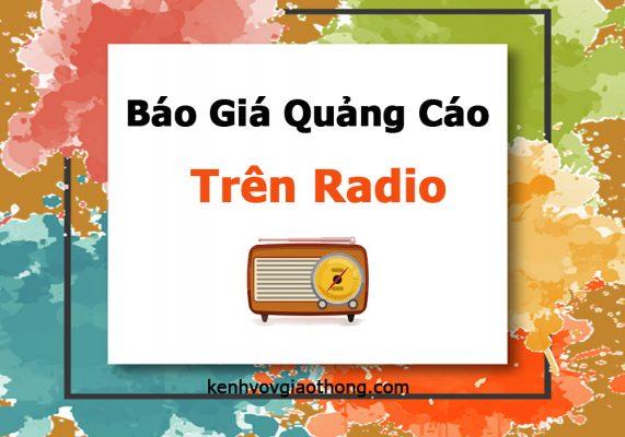 Báo giá quảng cáo trên radio